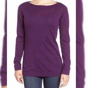 Eileen Fisher | Purple 100% Merino Wool Sweater-A3
